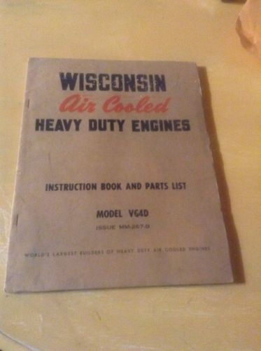 Wisconsin Air cooled Heavy Duty Engine Manual