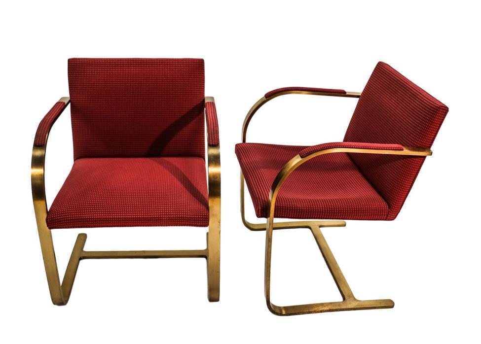 Mies van der Rohe Brno Chairs Knoll 1960s pair