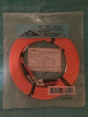 ATP Fiber Optic Patch Cable, 10 meter, ST to ST, MultiMode 62.5/ 125 (Lot of x5)