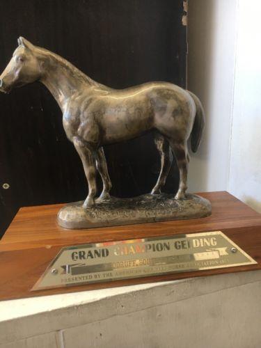 Vintage 1977 AQHA Grand Champion Gelding Horse Trophy From Woodruff, SC