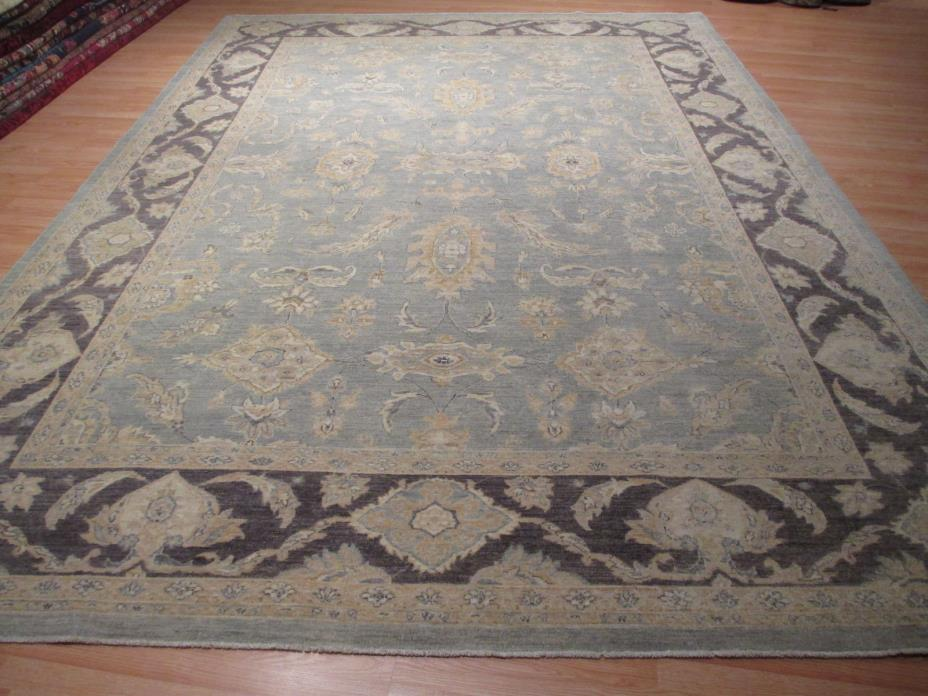 10x14 PERSIAN MUSEUM MUTED Tabriz Veggie Dye Hand-made-knotted Wool Rug 583100