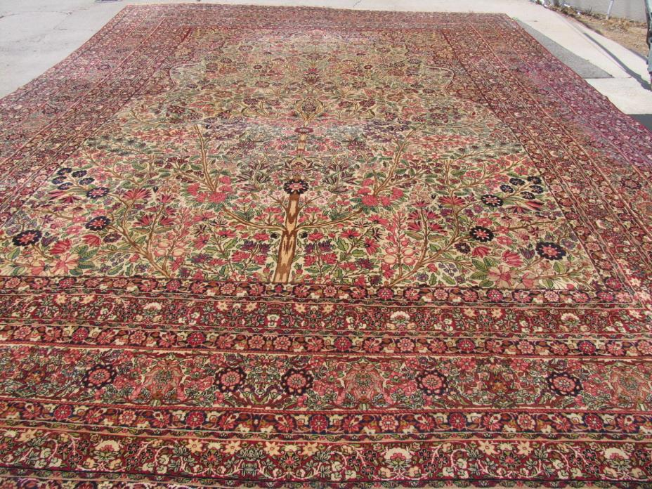 Antique Persian Lavar Kerman 15.0x20.0