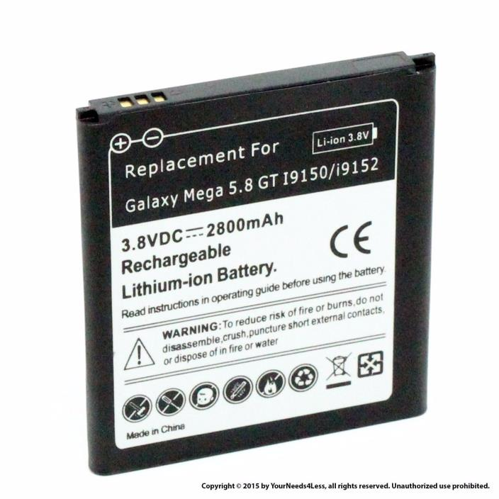 Samsung Galaxy Mega 5.8 GT-I9152 Replacement Battery 2800 Mah
