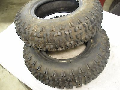 pair tires 4.80-8  Snow Tread duro Snowblower tiller go cart Lug Tread my#33