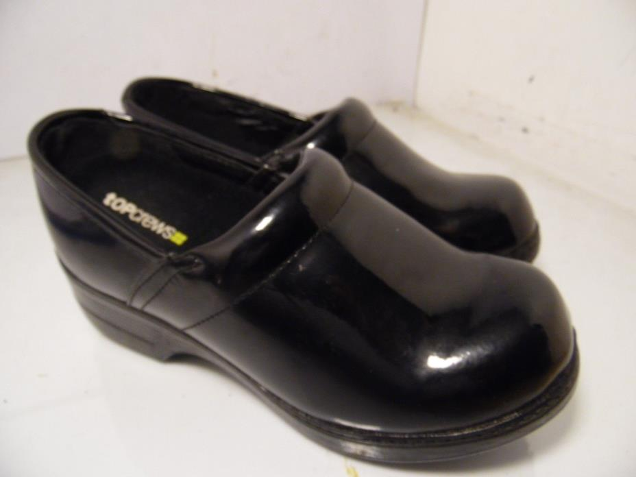 Shoes For Crews Piper Black Patent / Womens  Stylis Non-Slip Womens Size 5.5