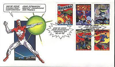 Canada FDC Sc # 1579-83 Comic Book Superheroes