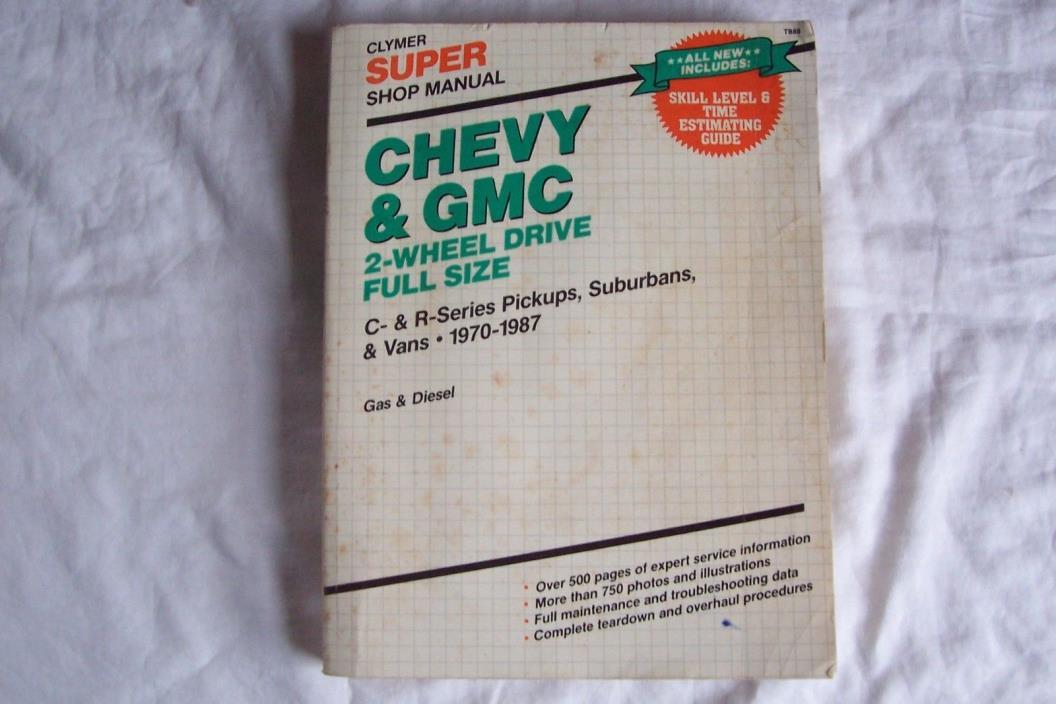 1970 CHEVY GMC 2 WHEEL DRIVE PICK UP SUBURBANS VAN Repair Service  SHOP MANUAL