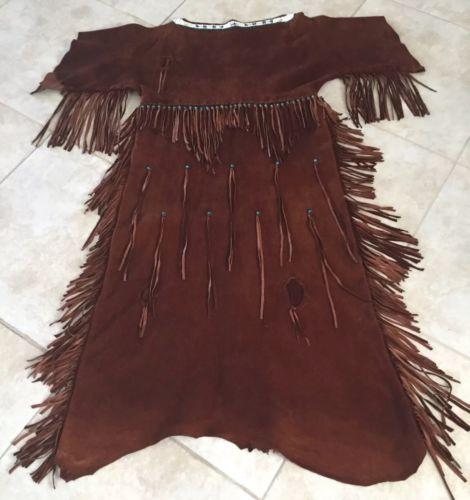 Native American Handmade Leather Dress
