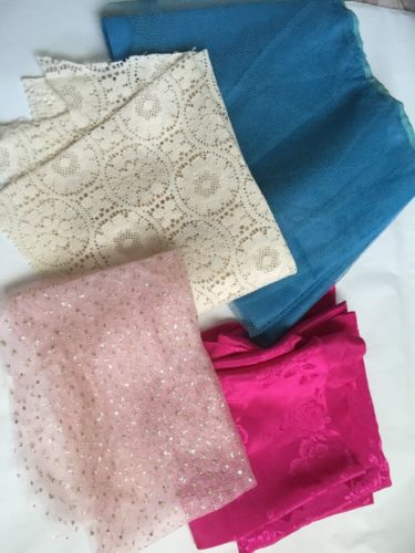 Vintage Scrap Fabric For Doll Clothes.