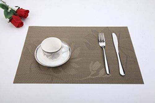 Spaco Cross Bamboo Style Table Placemats Non-slip Table Decor Mats For Kitchen