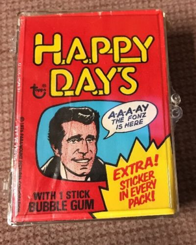 Happy Days 44 Trading Cards 11 Stickers Complete Set Topps 1976 Henry Winkler
