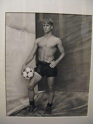 Bruce Weber original signed black and white photograph, Tom Kain