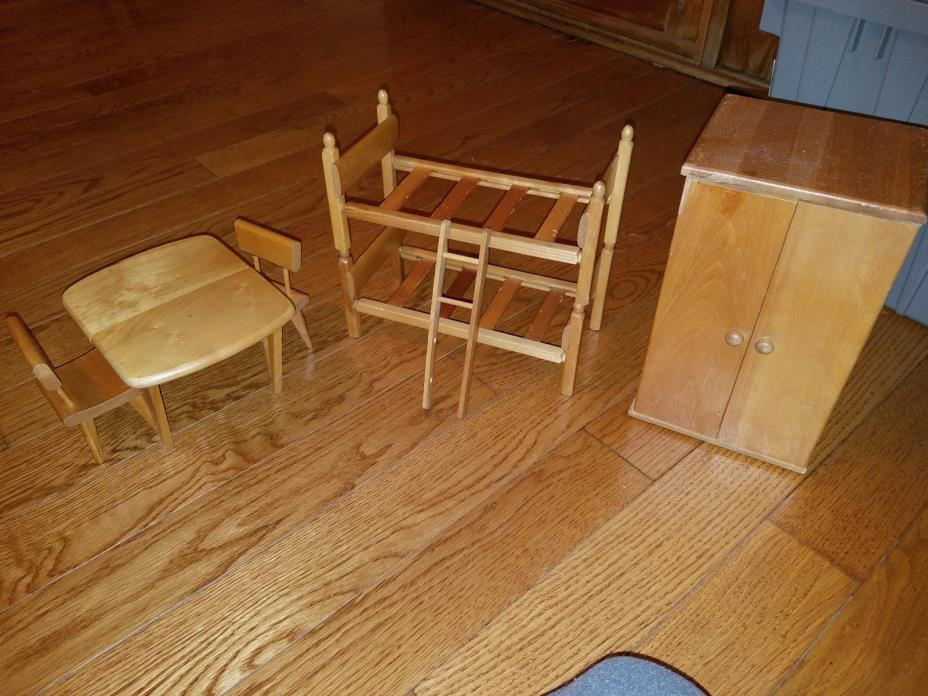 Strombecker Doll furniture Table Chair Bunkbed etc