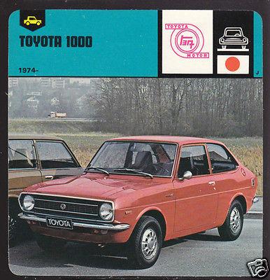 1974-1978 TOYOTA 1000 Car History 1978 AUTO RALLY CARD