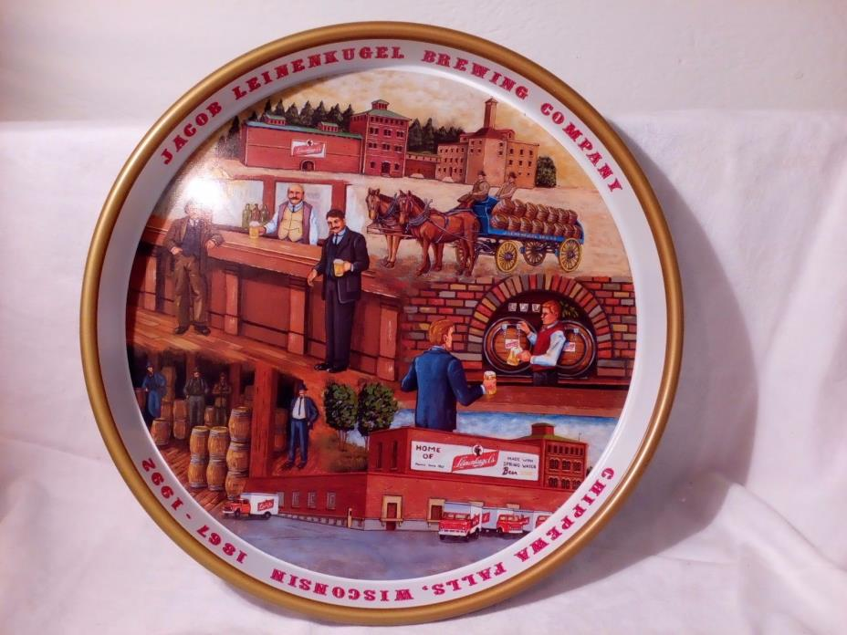 Vintage Jacob Leinenkugel Brewing Company 125th Anniversary Beer Tray Rare