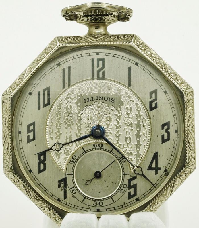 ornate illinois pocket watch case vintage Fleet bomb