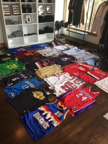 Lot Of NBA And NFL jerseys
