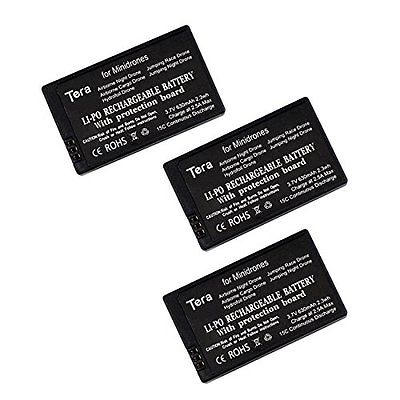 Tera 3Pcs of 3.7v 630mAh Rechargeable Li-po Battery with Protection Board Sale