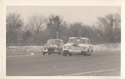 MINI & ANOTHER CAR ?FORD? RACING, PHOTOGRAPH.