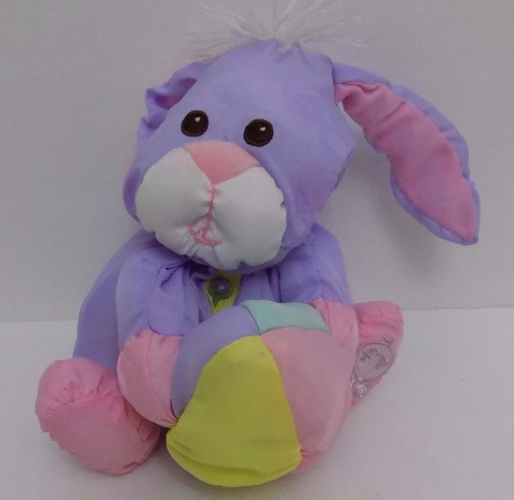 1988 Vintage Fisher Price Easter Puffalumps Purple Bunny Egg