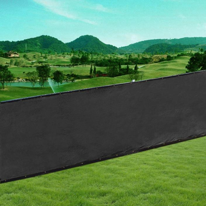 2x95% Privacy Screen, 6x50ft 2-Pack Shade Fence, Taped with Metal Grommets,Black