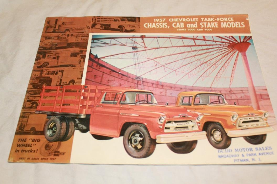 1957 Chevy Task Force Cab, Chassis and Stake Truck Sales Brochure
