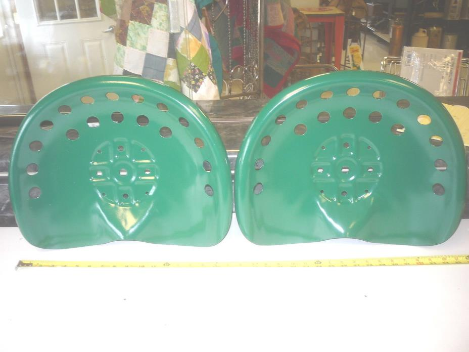 2  NEW   GREEN ANTIQUE STYLE HORSE  FARM MACHINE  TRACTOR METAL BAR STOOL  SEAT