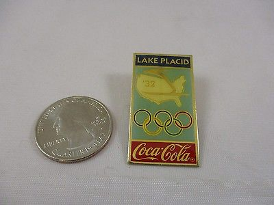 Vintage 1932 Olympic 1983 Lake Placid Coca-Cola Pin