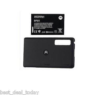 OEM Motorola Extended Life Battery&Door For Droid 3 III XT862 BF6X Verizon BF-6X
