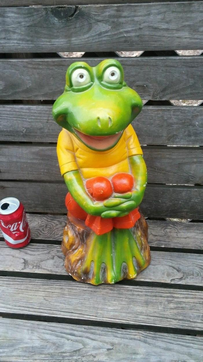 KERMIT  (Piggy Bank) VINTAGE 1980 CERAMIC Atoz Productions RARE FROG BANK STATUE