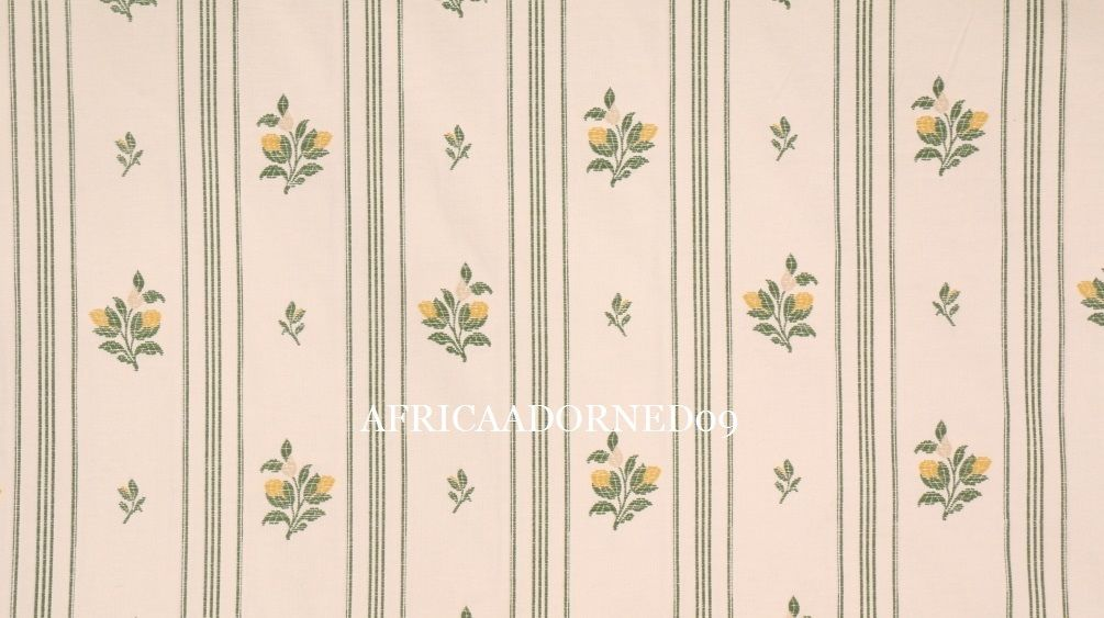 L4X SCALAMANDRE ELEGANT WOVEN FLORAL STRIPE UPHOLSTERY FABRIC BTY