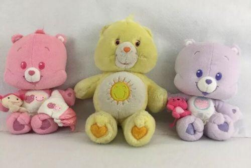 Care Bears King Funshine Bear Share Cub Love A Lot Cub Plush
