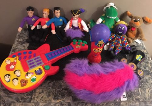 The Wiggles 2004 Dolls Jeff, Greg, Anthony, Murray, Wags, Dorothy Henry Guitar