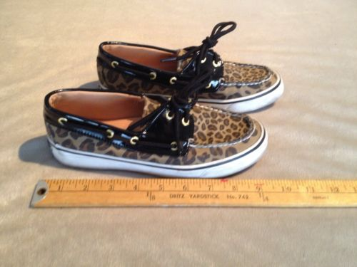 SPERRY TOP-SIDER WOMEN'S 2-EYE BOAT SHOES US 6 CAMO TAN & BLACK