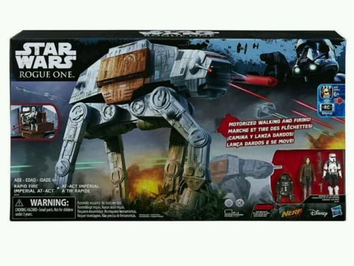 Star Wars Rogue One Rapid Fire Imperial AT-ACT Walker Nerf Remote Control AT-AT
