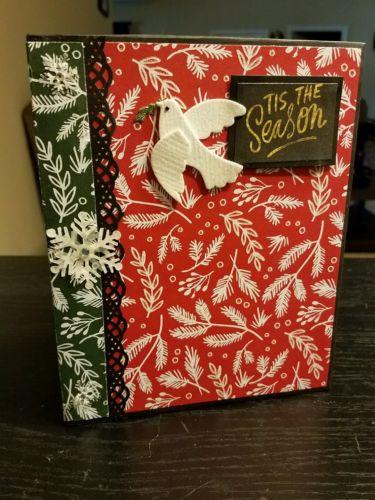 Christmas Holiday interactive mini album scrapbook gift photo album