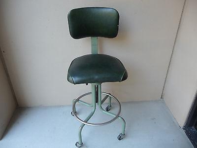 Vintage Industrial Drafting Swivel Chair, Adjustable Height