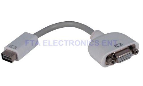 Mini DVI TO VGA Converter Adapter Cable for PowerBook G4, Intel-based iMac Mac