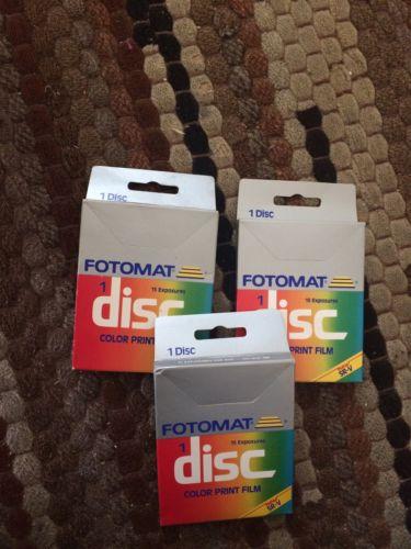 NEW 3 Boxes FOTOMAT Disc Film - 15 Exposure