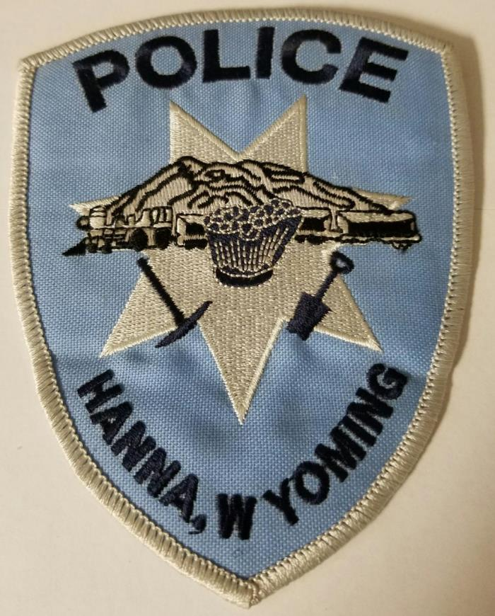 Hanna Wyoming Police Department Cloth Patch