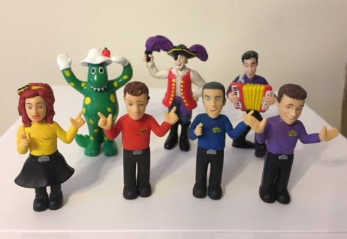 The WIGGLES 7 FIGURES  - Spin Master 2004 & 2013 - Rare - Cake Toppers