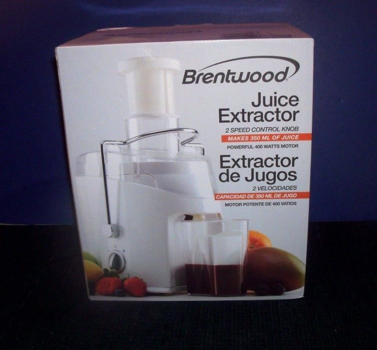 Brentwood JC-452 Juice Extractor - White - 2 Speed
