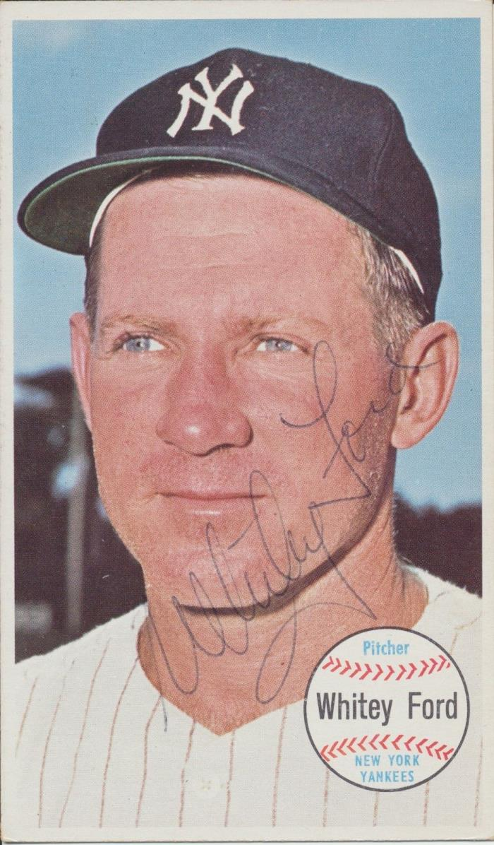 Whitey Ford autographed 1964 Topps Giants Original Card HOF Yankees