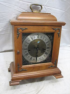 Vintage Wood Case Hamilton Westminster Chime Carriage Shelf Mantle Clock