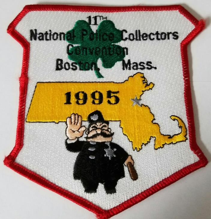 11th Annual National Police Collectors Meet Boston Mass 1995 Cloth Patch