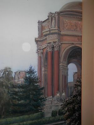 Vintage painting PPIE San Francisco Palace Fine Arts mystery artist BEST OFFER