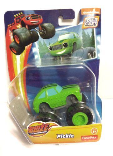 ~ BLAZE & MONSTER MACHINES ~ PICKLE Single Car Truck NIP Die Cast