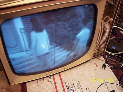 Vintage 1963 Philco B/W Metal Cabinet Table Top TV