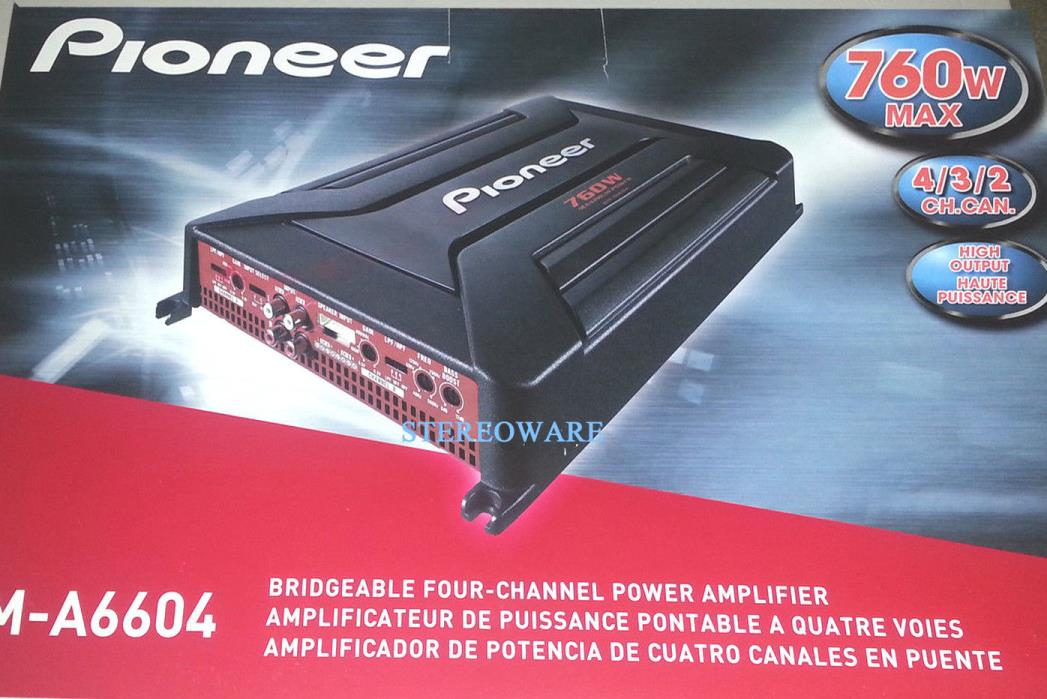 PIONEER GM-A6604 MOSFET 4-CHANNEL CAR AMPLIFIER 760W BRAND NEW