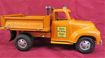 Vintage 1956 Tonka Pressed Steel State HI-Way Dept 975 Dump Truck VG Condition